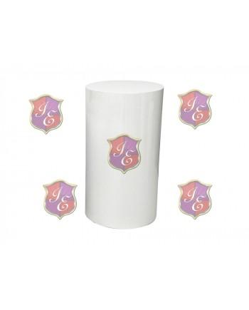 """Cylinder Pedestal 36""""H (White)"""
