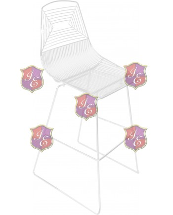 Wire Barstool (White)