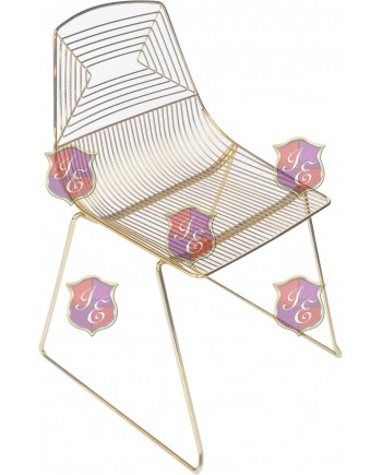 Wire Chair (Gold)