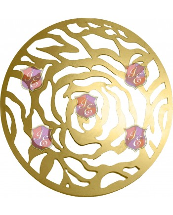 Rose Charger Plate (Gold)