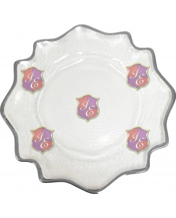 Versailles Charger Plate (Silver Trim)