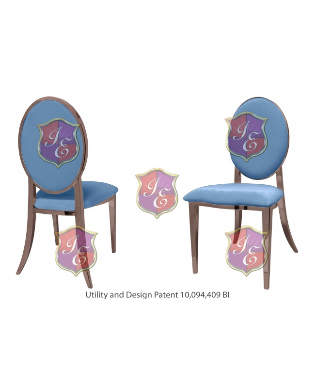 Tiffany Chair (Rose Gold-Blue)