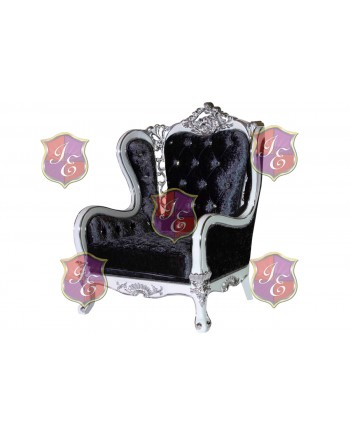 Monarch ArmChair (Black with Silver Frame)