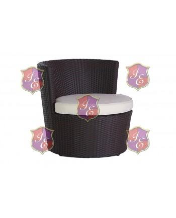 Rattan Chair (Round) (Mocha)