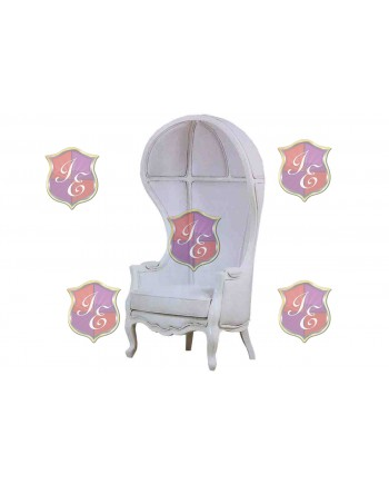 Empress Dome ArmChair (White)