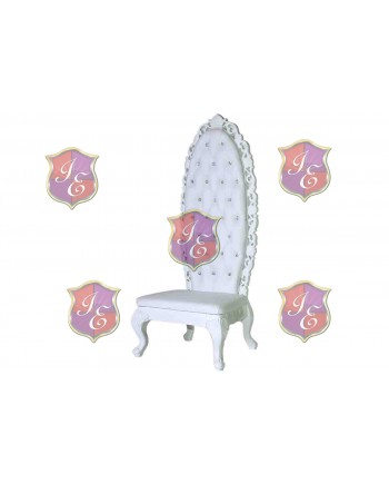 Empress Princess Chair (White)