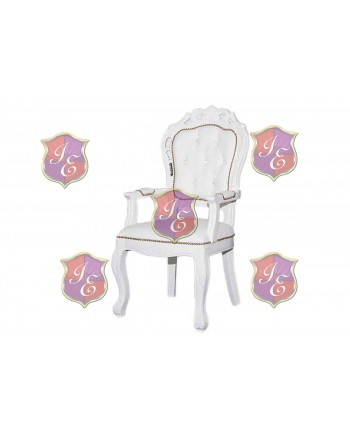 Empress Olympus ArmChair (White)