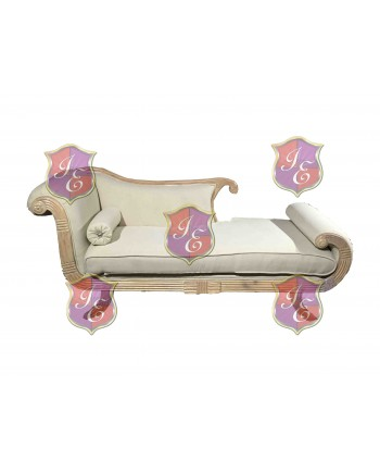 Vintage Chaise Lounge (Right) (Taupe)
