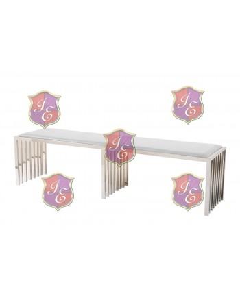 Reflection Bench Art Deco (Silver)