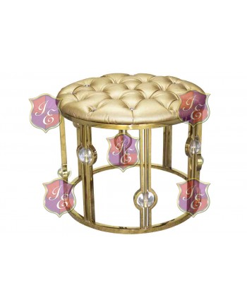 Reflection Ottoman Glam (Round) (Gold)