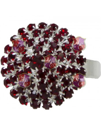 Red Stones Napkin Ring
