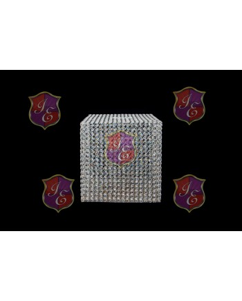 Silver Gift Box Crystal-Metal (Square)