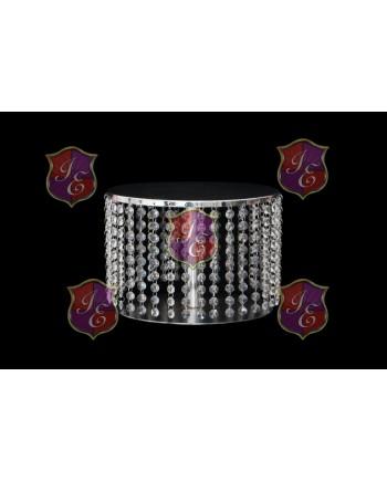 "Crystal-Metal Base (cake stand round 16"")"