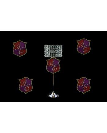 "Crystal-Metal Pedestal 29""  (centerpiece)"