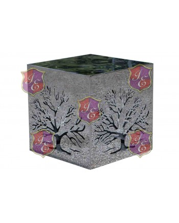 Reflection Ottoman (Silver)