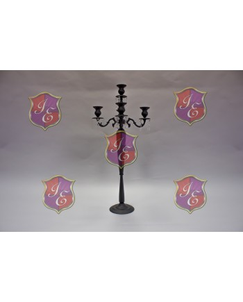 "Four Arm Candelabra (Black) (42"")"
