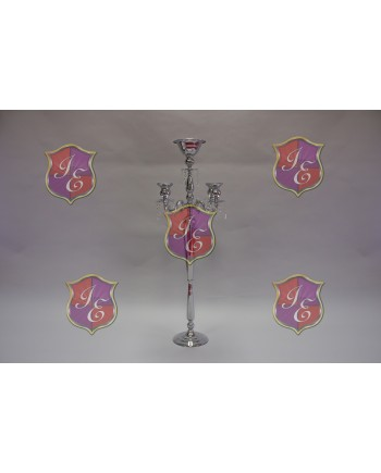 "Four Arm Candelabra (Silver) (47"")"