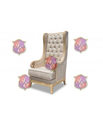 Empire ArmChair (Natural-Vintage Taupe)