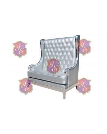 Empire Love Seat (Silver)