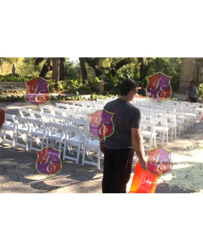 Resin Folding Chair (White)