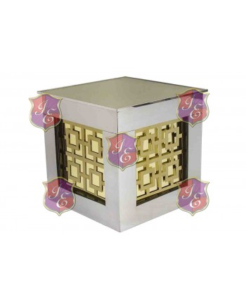Reflection Ottoman Laser Cut (Target Gold) (Silver)