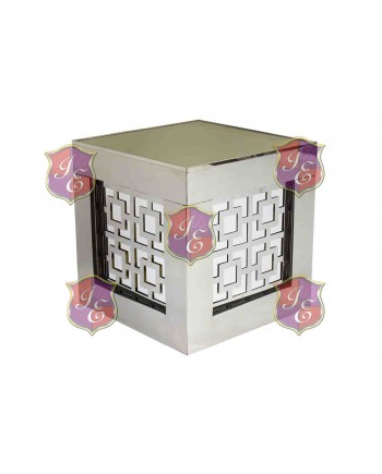 Reflection Ottoman Laser Cut (Target Silver)