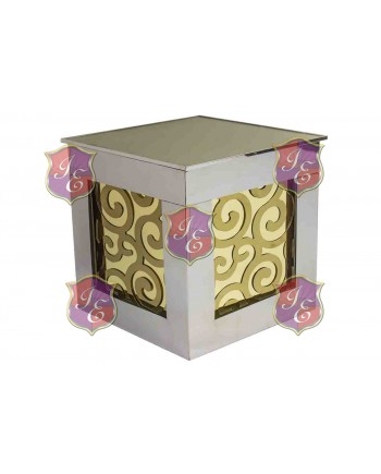 Reflection Ottoman Laser Cut (Wave Gold)