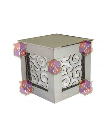 Reflection Ottoman Laser Cut (Wave Silver)