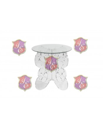 """Crystal      Dining Table ( 30 D"""") Round"""