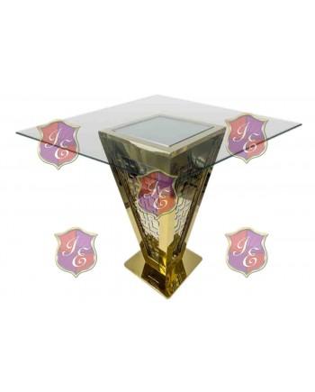 "Reflection Highboy Table Pyramid (Gold) 72"" x 72"""