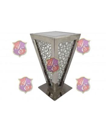 Reflection Highboy Table Pyramid (Silver)