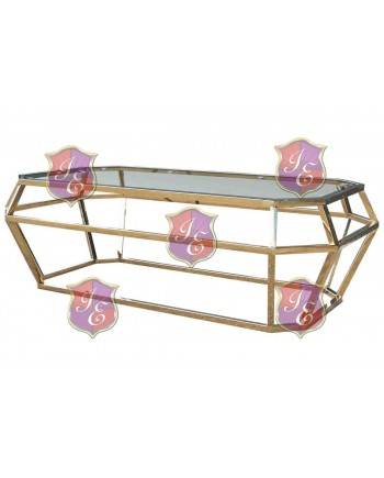 "Reflection Coffee Table Gem (Gold) 48""L x 24""W x 18""H"