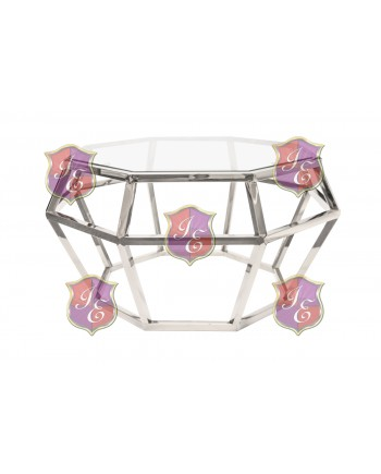 """Reflection Coffee Table Gem (Silver) 36"""" D x 18""""H"""