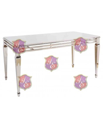 "Reflection HighBoy Table (Silver) 48"" x 96"""