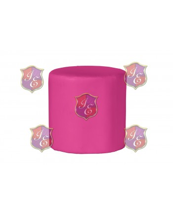 Soho Ottoman (Round)(Hot Pink)