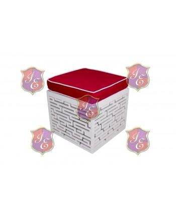 Maze Ottoman (Red)