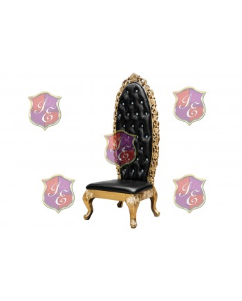 Empress Princess Chair (Gold) (Black)