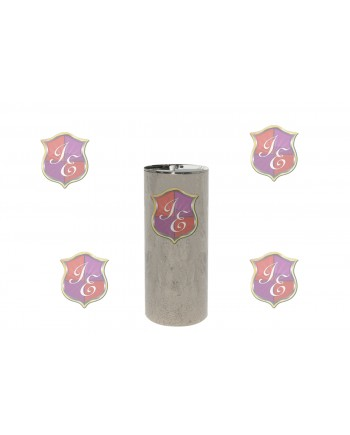 "Cylinder Pedestal (Silver) 30"" H"