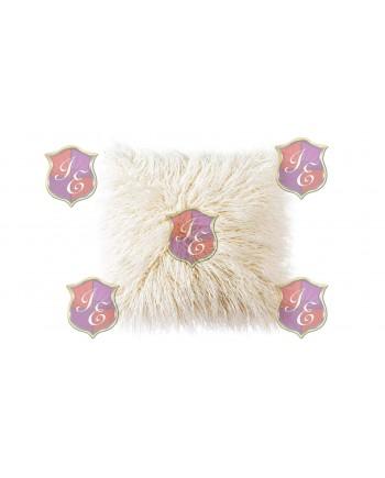 Faux Fur Pillow (Beige)