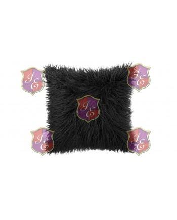 Faux Fur Pillow (Black)
