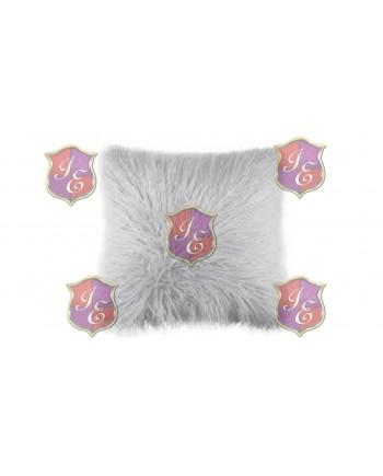 Faux Fur Pillow (Light Grey)