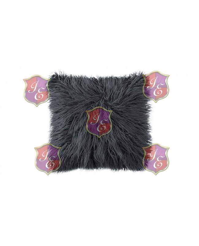 Faux Fur Pillow (Dark Grey)