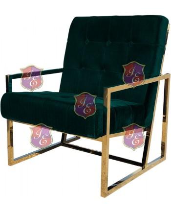 Reflection Rain Armchair (Gold - Emerald Tufted)
