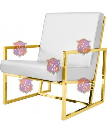 Reflection Rain Armchair (Gold - White)