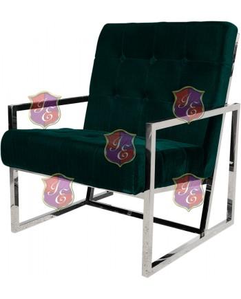 Reflection Rain Armchair (Silver - Emerald Tufted)