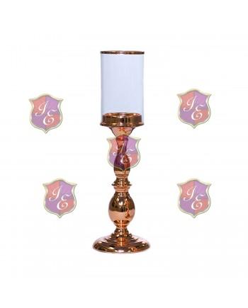 Alexandra Pedestal Candle Holder (Rose Gold) 11''H