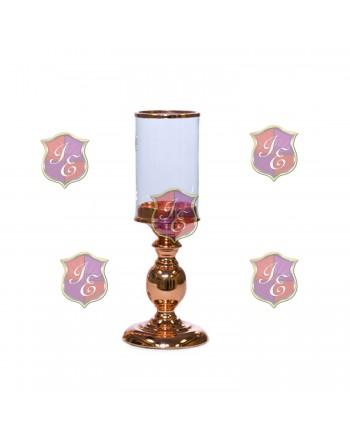 Alexandra Pedestal Candle Holder (Rose Gold) 8''H