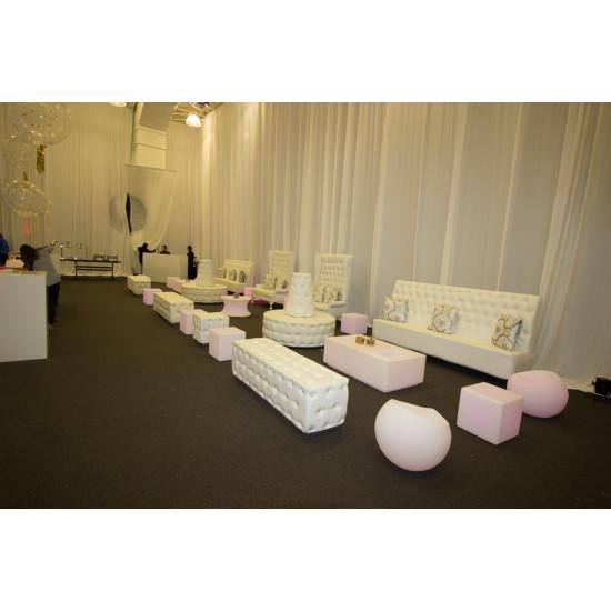 Glitz Banquette (Round) (White)