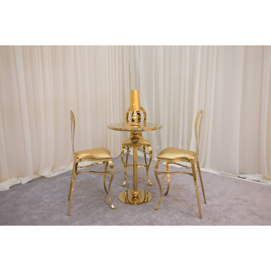 Reflection Lowboy Table (Gold)