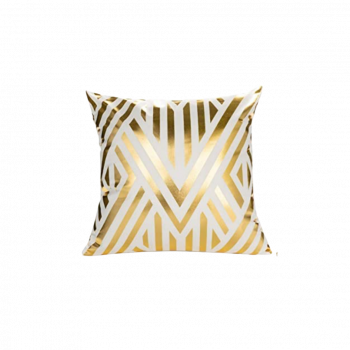 Reflection Gold Throw Pillow Geometrical Lines